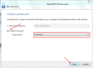 How+to+Create+a+new+printer+port+in+Windows+7